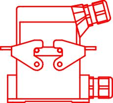 Сборка приборного корпуса с кабельным корпусом — боковое расположение устройства ввода кабеля