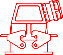 Сборка приборного рамочного проходного корпуса с кабельным корпусом